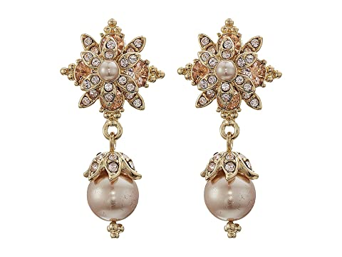 Marchesa Crystal Glass Pearl Drop Earrings