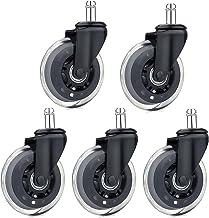 Diealles Ruedas Silla Oficina, 5 Piezas Ruedas para Sillas de Oficina para Suelos Duros,11mm/22mm
