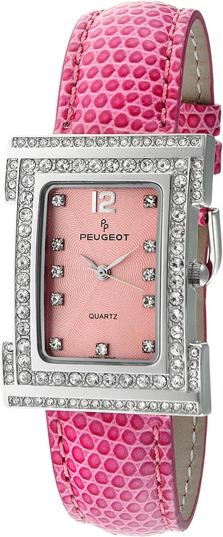 Peugeot Women's Store 344PK Silver-Tone Accented Crystal Swarovski Pin Mesa Mall