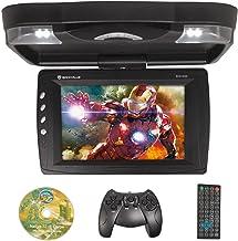 "Rockville RVD13HD-BK Black 13"" Flip Down Car Monitor w DVD/HDMI/USB/SD/Games"