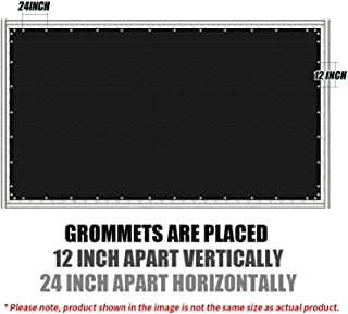 Amgo Custom Made 6' x 25' Black Fence Privacy Screen Windscreen,with Bindings & Grommets, Heavy Duty for Commercial and Residential 90% Blockage, Cable Zip Ties Included (Available for Custom Sizes)