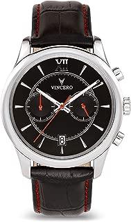 Vincero Luxury Mens Bellwether Watch — 43mm Chronograph Watch —Japanese Quartz Movement