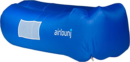 Airlounj - Premier Fast Inflating Air Lounger | Indoors and Outdoors | Portable Lightweight Strong Ripstop Nylon, Awesome for Travel Camping Festivals Concerts | Superior Colorado Based Customer Care