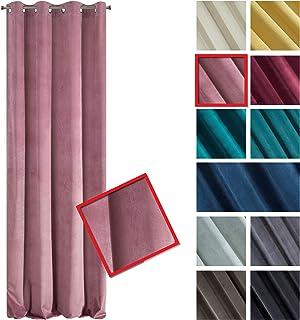 Eurofirany Velvet - Cortina de Terciopelo, Color Rosa Oscuro