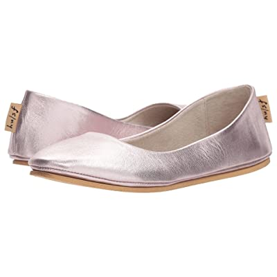 French Sole Sloop Flat (Rose Gold Silk Nappa) Women