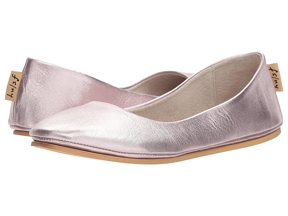 d66b514fdff7 French Sole Sloop Flat (Rose Gold Silk Nappa) Women s Flat Shoes