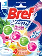 Bref Power Active Flower Blossom with Air Freshener Effect, Rim Block Toilet Cleaner, 50g