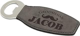 Custom Engraved Bottle Opener - Groomsmen Housewarming Beer Gift - Personalized for Free (Grey)