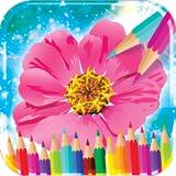 libro da colorare di fiori