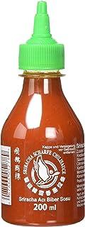 FLYING GOOSE Sriracha scharfe Chilisauce - scharf, grüne Kappe, Würzsauce aus Thailand, 3er Pack 3 x 200 ml