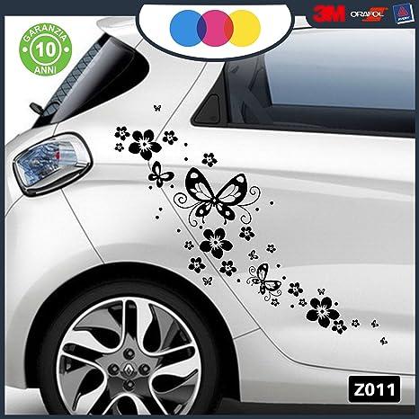 Aufkleber Für Das Auto Blumen Und Schmetterlinge Aufkleber Für Autos Motorräder Wohnmobile Sticker Schwarz Auto