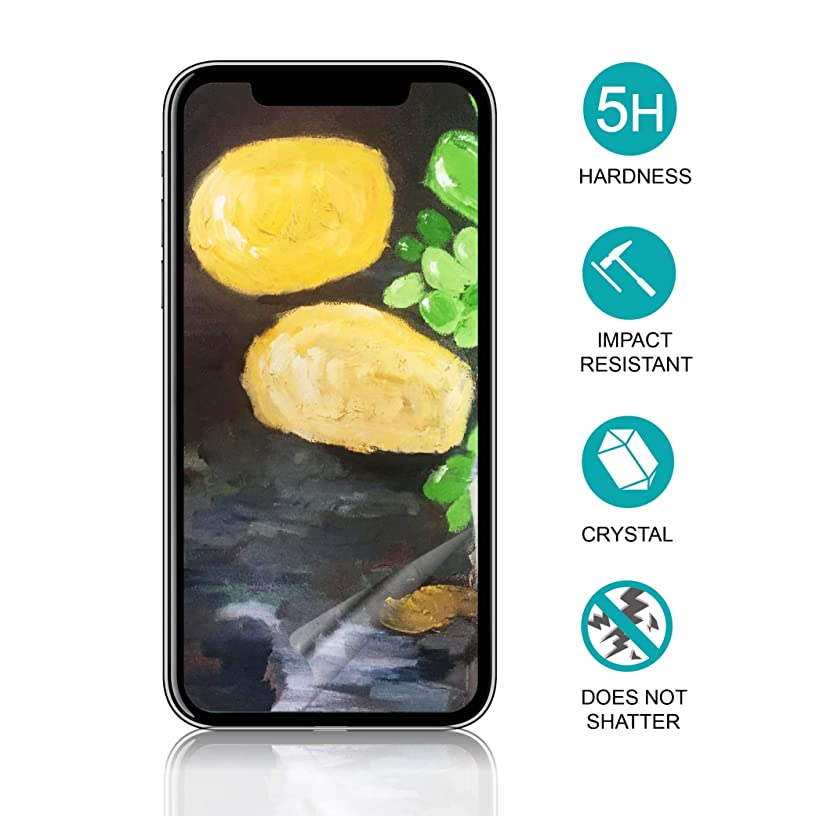 Shock Absorbency Screen Protector for iPhone X / IK08 Drop Ball Test Passed/Unbreakable PET Glass Alternative[1 Pack] [5.8 Inch]