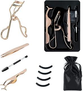 Eyelash Curler Kit (Rose Gold) Premium Lash Curler for Perfect Lashes, Comes with eyebrow brush, eyelash aid, exquisite si...