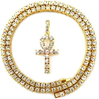 tennis chain with cross