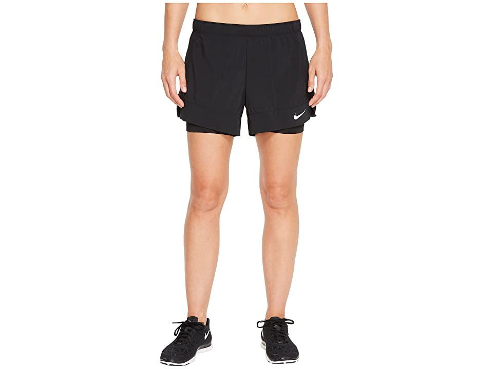 Nike Flex 2-in-1 Short (Black/Black/White) Women