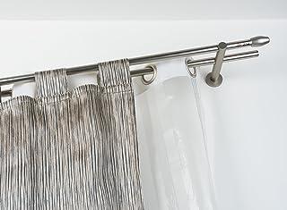 ETOPARS Lot de 2 19 mm Double Support de Plafond pour Tringles /à Rideaux Crochets Vintage Barre Transversale Cintre Supports Muraux