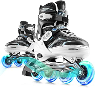 Marcent Kids Inline Skates for Boys and Girls, Adjustable Roller Blades with Light up Wheels for Beginners, Inline Roller ...