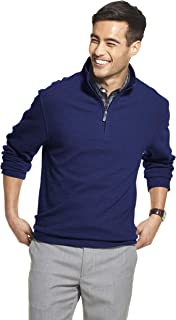 Men's Slim Fit Never Tuck Long Sleeve 1/4 Zip Solid