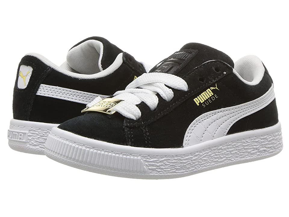 Puma Kids Suede Classic BBOY Fabulous (Little Kid) (Puma Black/Puma White) Boys Shoes