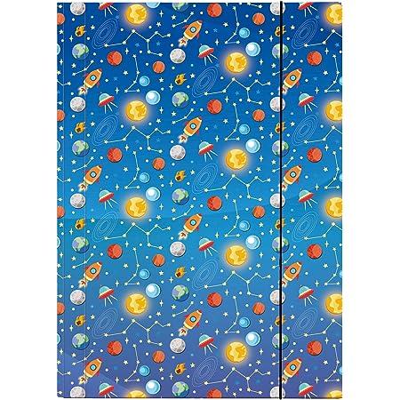 Veloflex 4432984 Space - Carpeta (DIN A3, cartón laminado brillante, con goma, 1 unidad)