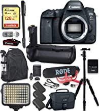 Canon EOS 6D Mark II DSLR Camera Body Only Kit + 128GB Sandisk Extreme Memory + Video LED Light + Rode Microphone + 60