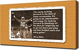 Jerry Rice Quotes 2 - Canvas Art Print