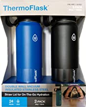 Thermoflask 24-Ounce Double Wall Vacuum Insulated Stainless Steel Water Bottles 2-Piece