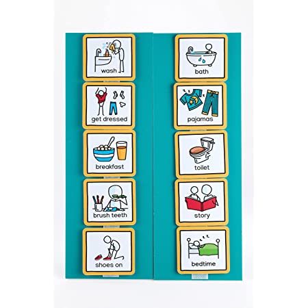 ASD Visual Schedule for Home Visual Wall Planner by Create Visual Aids