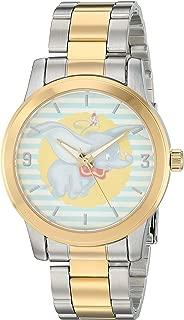 Disney Women's Dumbo Analog-Quartz Watch with Stainless-Steel Strap, Two Tone, 17.6 (Model: WDS000643)
