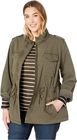 Plus Size Parachute Cotton Military Jacket