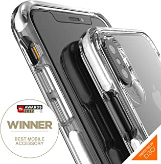 Gear4 Piccadilly Clear Case with Advanced Impact Protection [ Protected by D3O ], Slim, Tough Design for iPhone X/XS – White