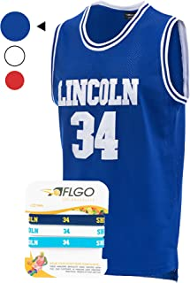 AFLGO Jesus Shuttlesworth #34 Lincoln High School Basketball Jersey Stitched