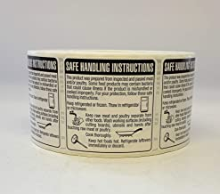 QSX Labels - Safe Handling Instructions Directions Label Stickers - Food Meat Chicken Poultry 2