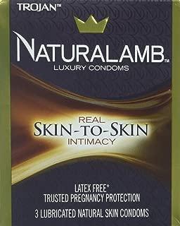 Trojan Natlmb Size 3s Trojan Naturalamb Lubricated Natural Skin Condoms