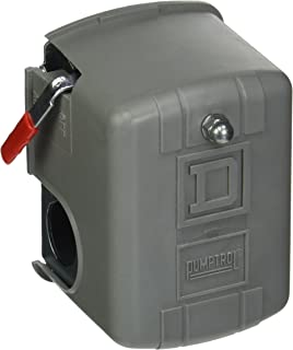 Square D by Schneider Electric 9013FHG52J59M1 Air-Compressor Pressure Switch, 175 psi Set Off, 40 psi Fixed Differential, 1/4