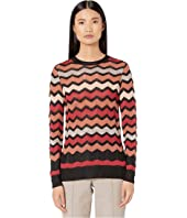 M Missoni - Long Sleeve Tunic Top in Zigzag Stitch