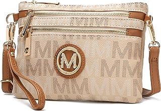 MKF 2 in 1 Crossbody Bags for Women, Wristlet Purse - Ladys Small PU Leather Messenger Handbag - Adjustable Strap