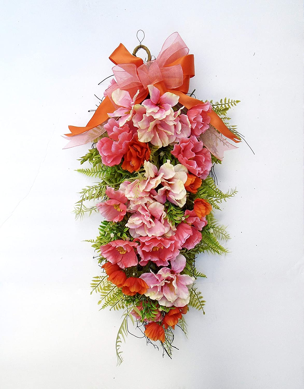 Amazing Silk Swag Floral Under Cheap mail order sales blast sales