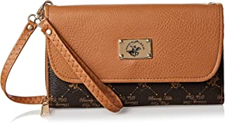 Beverly Hills Polo Club Clutch for Women- Monogram/Brown
