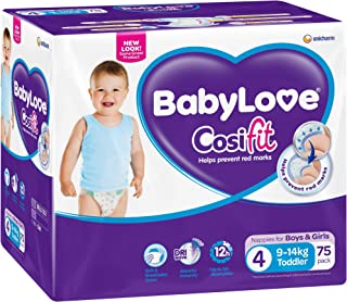 BABYLOVE Cosifit Toddler Nappies 9-14kg (75 pack), Toddler