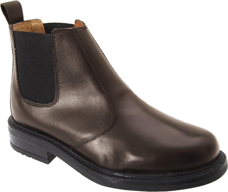 Roamer Mens Leather Quarter Lining Gusset Chelsea Boots