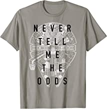 Star Wars Falcon Never Tell Me The Odds T-Shirt C1