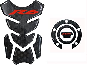 Decal Story 3D Real Carbon Fiber Emblem Gas Cap Cover Sticker Decal Raise Up Polish Gloss For Yamaha YZF R6 2001-2016