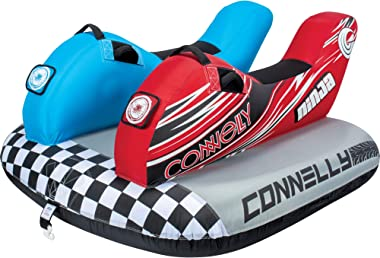 CWB Connelly Ninja Towable Tube, 2-Rider Side by Side, red/Blue/Black, One Size