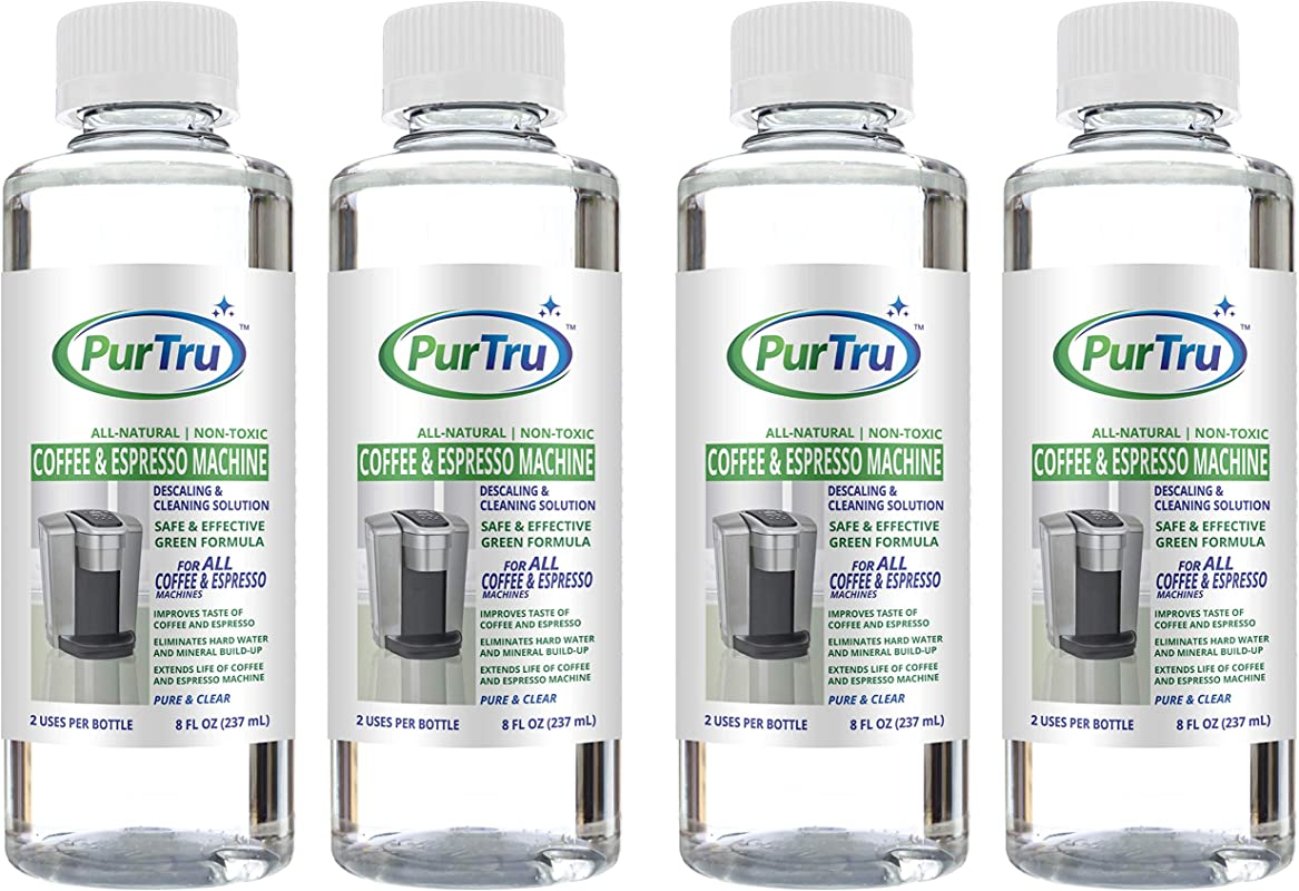 Coffee And Espresso Machine Descaling And Cleaning Solution 4 Pack All Natural Descaler And Cleaner For Keurig Bunn Delonghi Nespresso And All Drip Coffee Espresso And Single Cup Machines