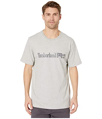 Timberland PRO Base Plate Short Sleeve T-Shirt with Logo (Light Grey Heather) Men