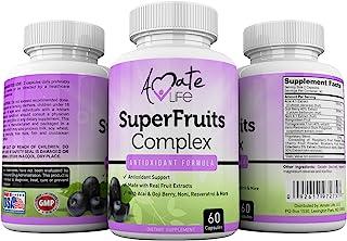 Sponsored Ad - Super Fruits Complex Powerful Antioxidant Supplement Immune Support Resveratrol, Elderberry, Acai, Goji Ber...