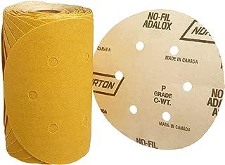 Norton A290 No-Fil Adalox Vacuum Abrasive Disc, Heavy Duty, Paper Backing, Aluminium Oxide, 6