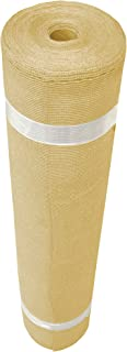Cool A Roo 300081 Coolaroo Shade Fabric 90% UV Protection (6' X 100'), Wheat