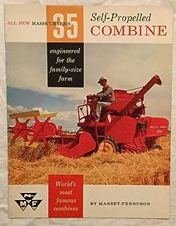 Massey- Ferguson 35 Self- Propelled Combine Sales Brochure in Color!